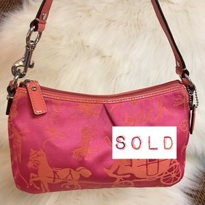 SOLD! COACH HORSE & CARRIAGE Top Handle Bag
